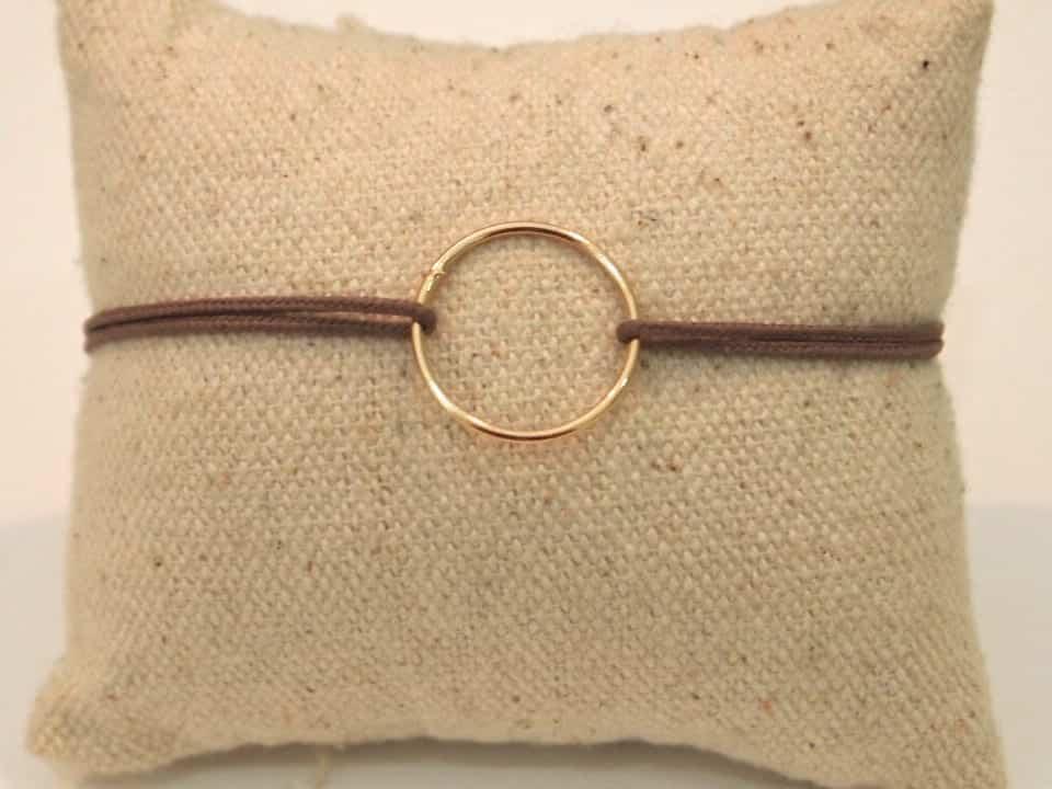 Cordon petit cercle plaqué or