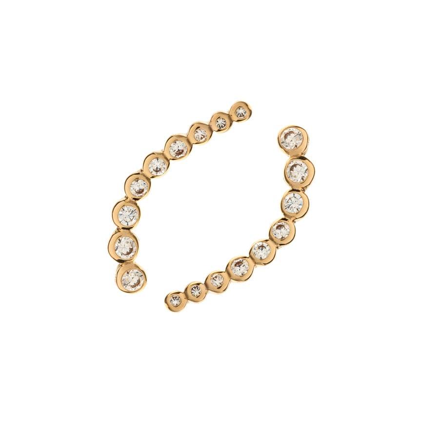 """Boucles d'oreilles montante """"Zirconium"""" en plaqué or"""