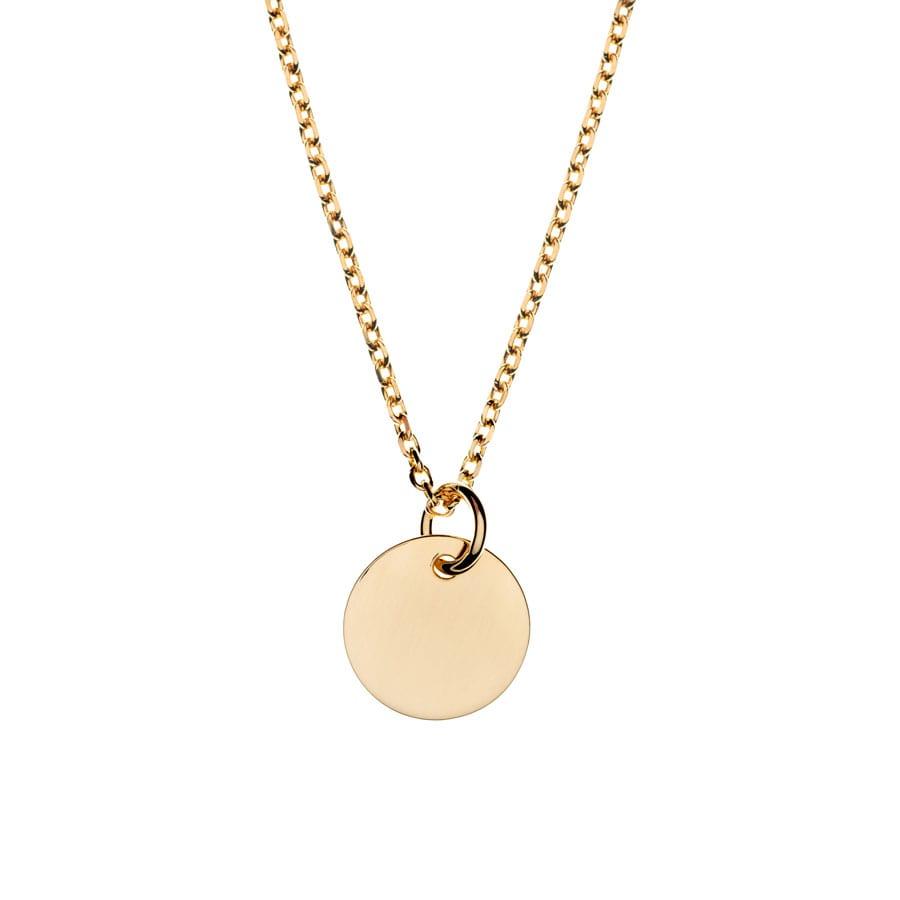 """Collier """"Médaille"""" en plaqué or"""