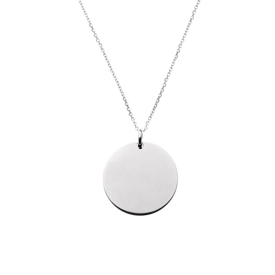 """Collier """"Médaille"""" argent"""