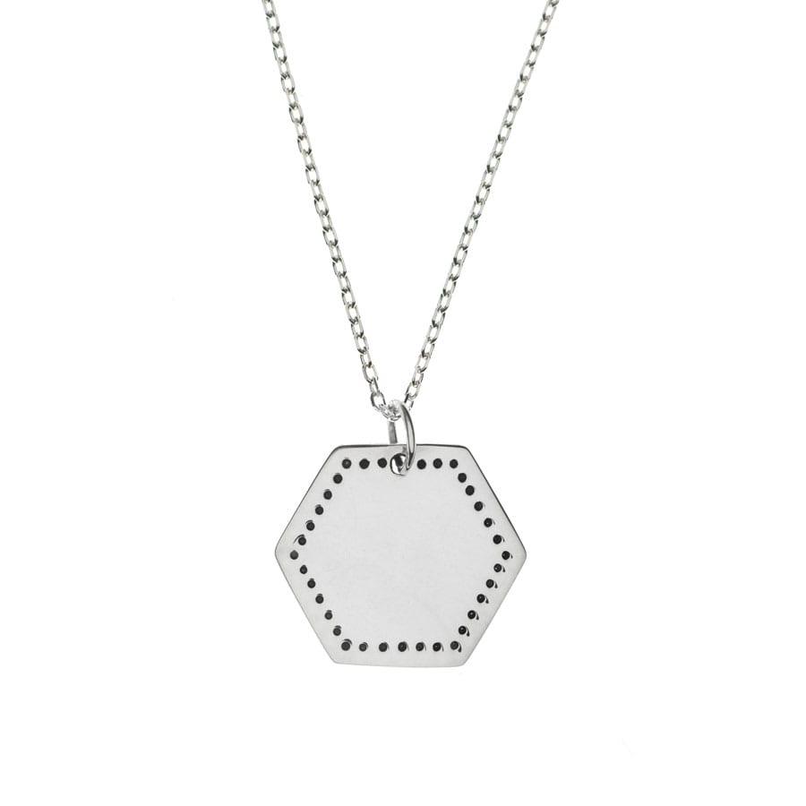 """Collier """"Médaille Hexagone"""" en argent 925"""